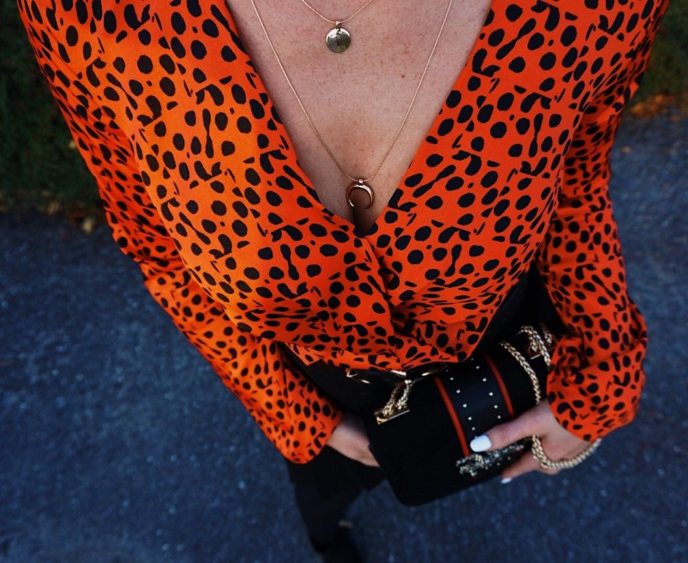 polka dot red top